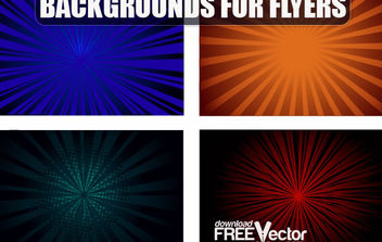 Free Vector Backgrounds For Flyers - Free vector #168681
