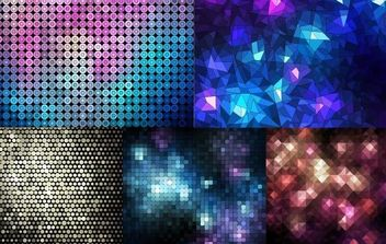 Abstract Mosaic Background - Free vector #168771