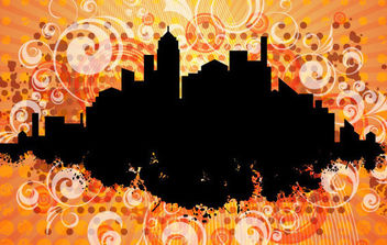Orange City - vector gratuit #168801