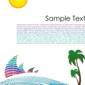 Colorful Landscape - Free vector #168861