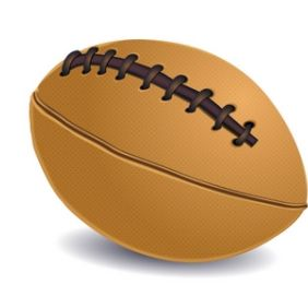 Rugby Ball - Free vector #168871