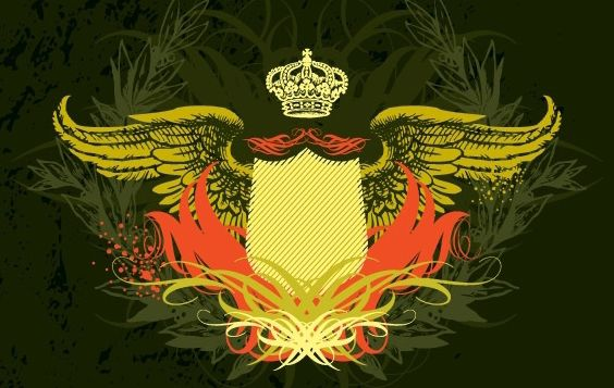 Crown Shield with Wings - Kostenloses vector #169001