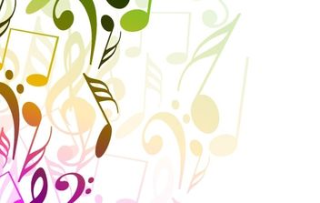 Abstract Background with Tunes Vector Illustration - бесплатный vector #169101