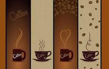 Vector Coffee Banners - vector gratuit #169141
