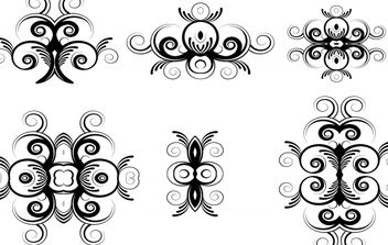 Floral Ornaments Vectors - бесплатный vector #169211