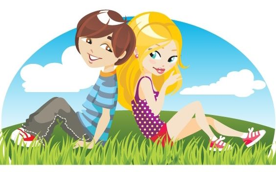 Two young person - Free vector #169231
