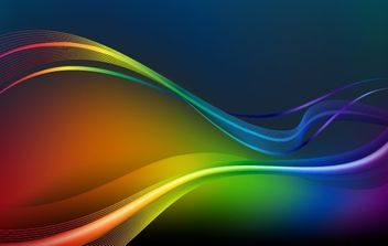 Colorful Waves and Lines Vector Background - Free vector #169261