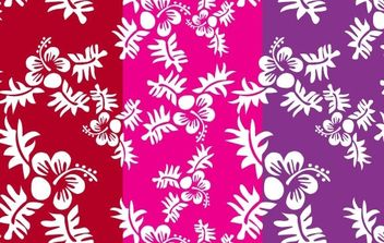 Seamless Flower Pattern 6 - vector gratuit #169361