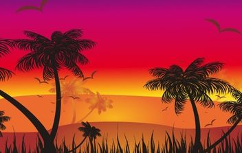 Tropical Sunset - Free vector #169401