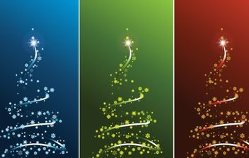 STYLIZED VECTOR CHRISTMAS TREE SET - Free vector #169601