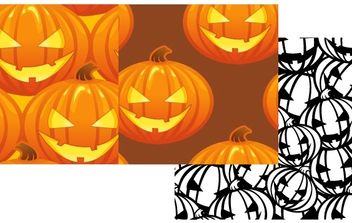 Free Vector Pumpkin Patterns Halloween Jack O Lanterns - бесплатный vector #169771