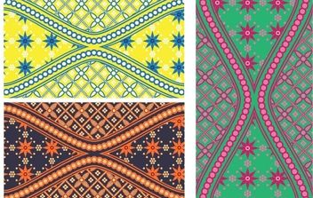 Batik is Beautiful Swatch - Free vector #169781