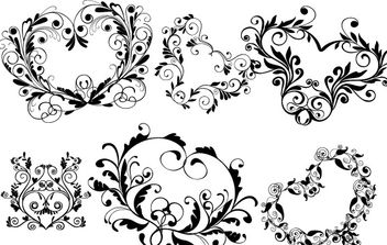 Ornamental heart shapes - Free vector #169801