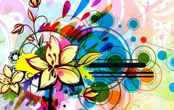Floral Background - vector #169851 gratis