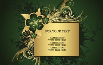 Golden frame for text - Free vector #169901