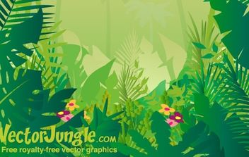 FREE VECTOR JUNGLE BACKGROUND - бесплатный vector #169911
