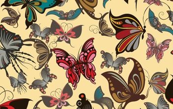 Free vector butterflies seamless pattern - Free vector #169991