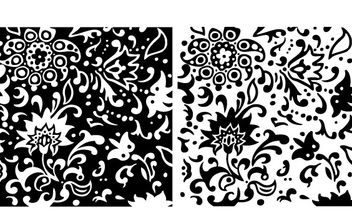 Swirly Summer Floral Pattern - vector gratuit #170011