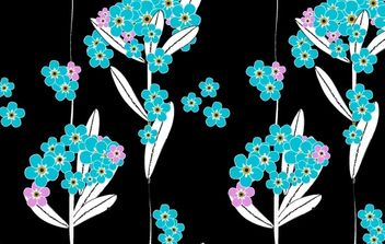 Forget me not pattern - Free vector #170021