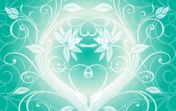 Swirly light green background - vector #170101 gratis