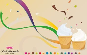 Ice cream is good for your health! - Free vector #170111