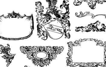Heraldry and Flourishes - Free vector #170161