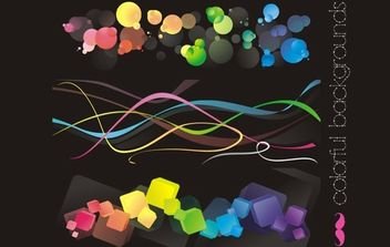Free vectors: Colorful backgrounds - Free vector #170221