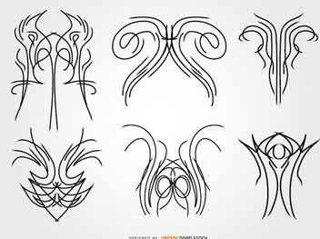 6 pinstripes designs - vector #170321 gratis