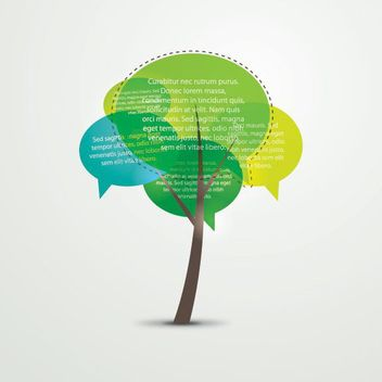 Funky Talking Tree Infographic - vector #170341 gratis