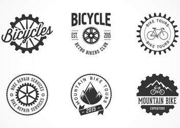 Creative Bicycle Label & Logo Set - vector gratuit #170381