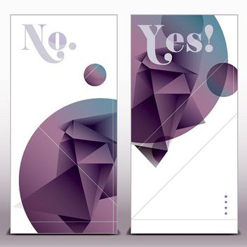 Polygonal Origami Design Classy Banners - Kostenloses vector #170391