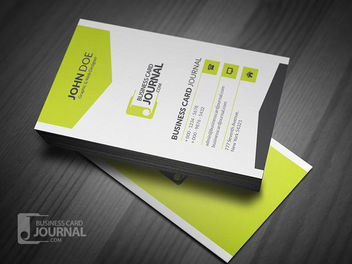 Stylish Vertical Corporate Business Card - бесплатный vector #170421