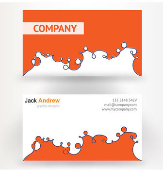 Abstract Orange White Business Card - vector gratuit #170471