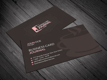 Exclusive Cafeteria Business Card - vector gratuit #170481