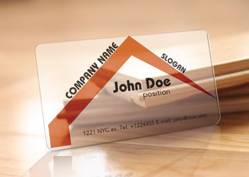 Translucent Realtor Business Card Template - Free vector #170491