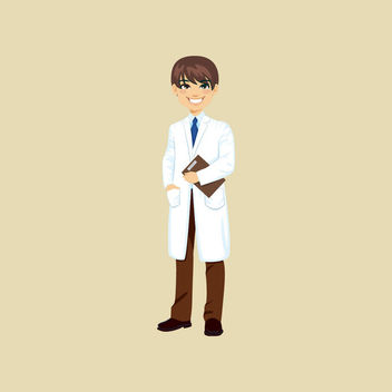Female Doctor Cartoon Character - бесплатный vector #170511