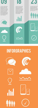 Trifold Infographic Template - vector #170631 gratis