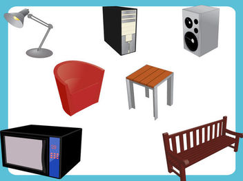 Abstract Furniture & Appliances - vector gratuit #170641