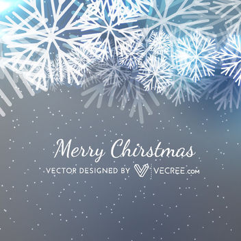 Christmas Snowflakes Grey Background - Free vector #170721