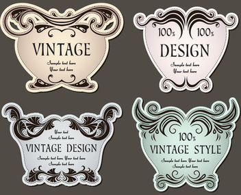 4 Promotional Christmas Vintage Labels - Free vector #170731