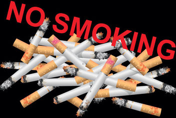 Destroyed Cigarettes with No Smoking Message - vector gratuit #170841