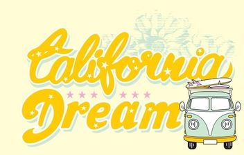 California Dream - Free vector #170981