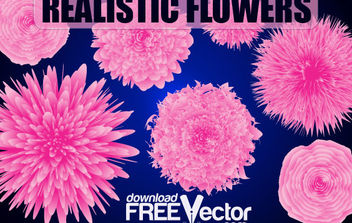 Free Vector Realistic Flowers - Free vector #171021
