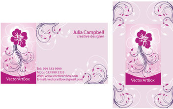 Vector Elegant B-card - Free vector #171041