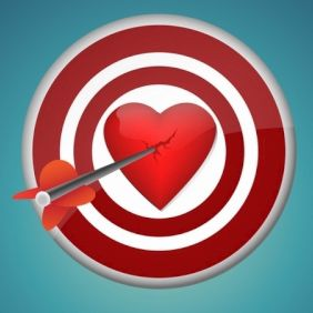 Breaking heart with the dart - vector gratuit #171061