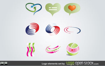 Logo Elements Set - vector gratuit #171071