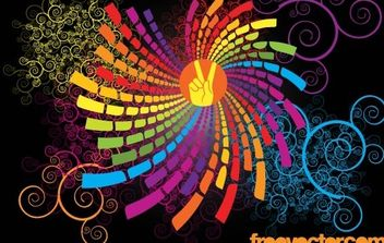 Colorful Scroll Graphics - Free vector #171141