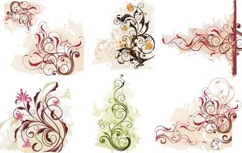 Swirl Flower Vector 1 - бесплатный vector #171161