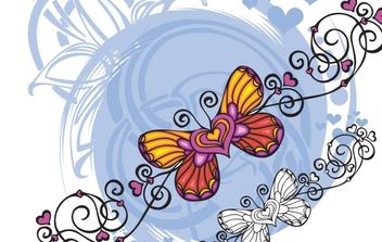 Butterfly Heart Shaped vector - vector #171171 gratis