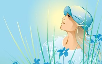 Beautiful girl relax 8 - Free vector #171241
